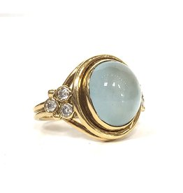 TEMPLE ST CLAIR Classic Aquamarine Diamond Ring