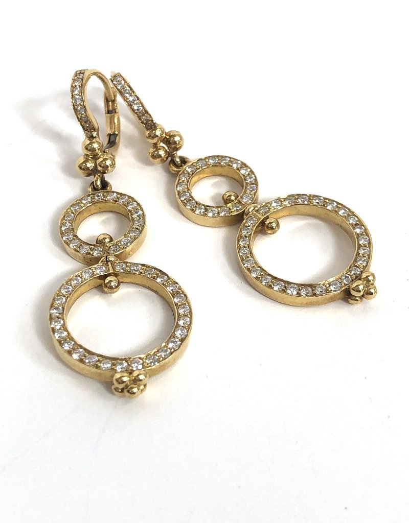 TEMPLE ST CLAIR Diamond Circle Earrings