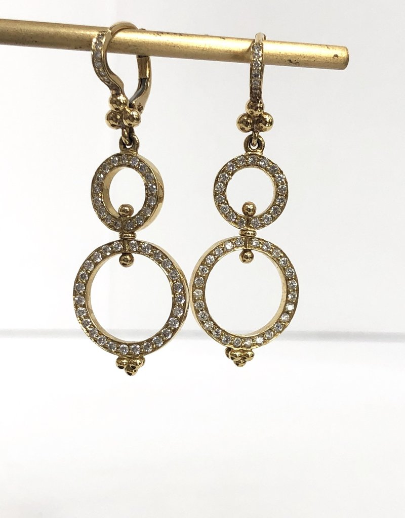 TEMPLE ST CLAIR Diamond Circle Earrings