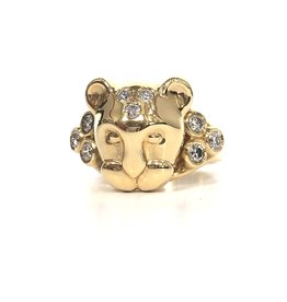 TEMPLE ST CLAIR Lion Ring with Diamonds