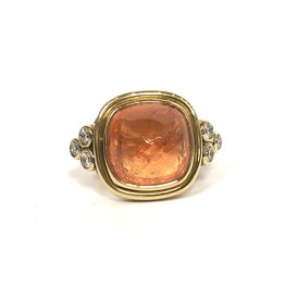 TEMPLE ST CLAIR Sugar Loaf Ring Mandarin Garnet