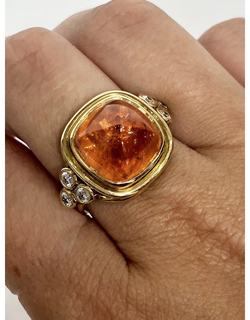 TEMPLE ST CLAIR Sugar Loaf Ring Mandarin Garnet