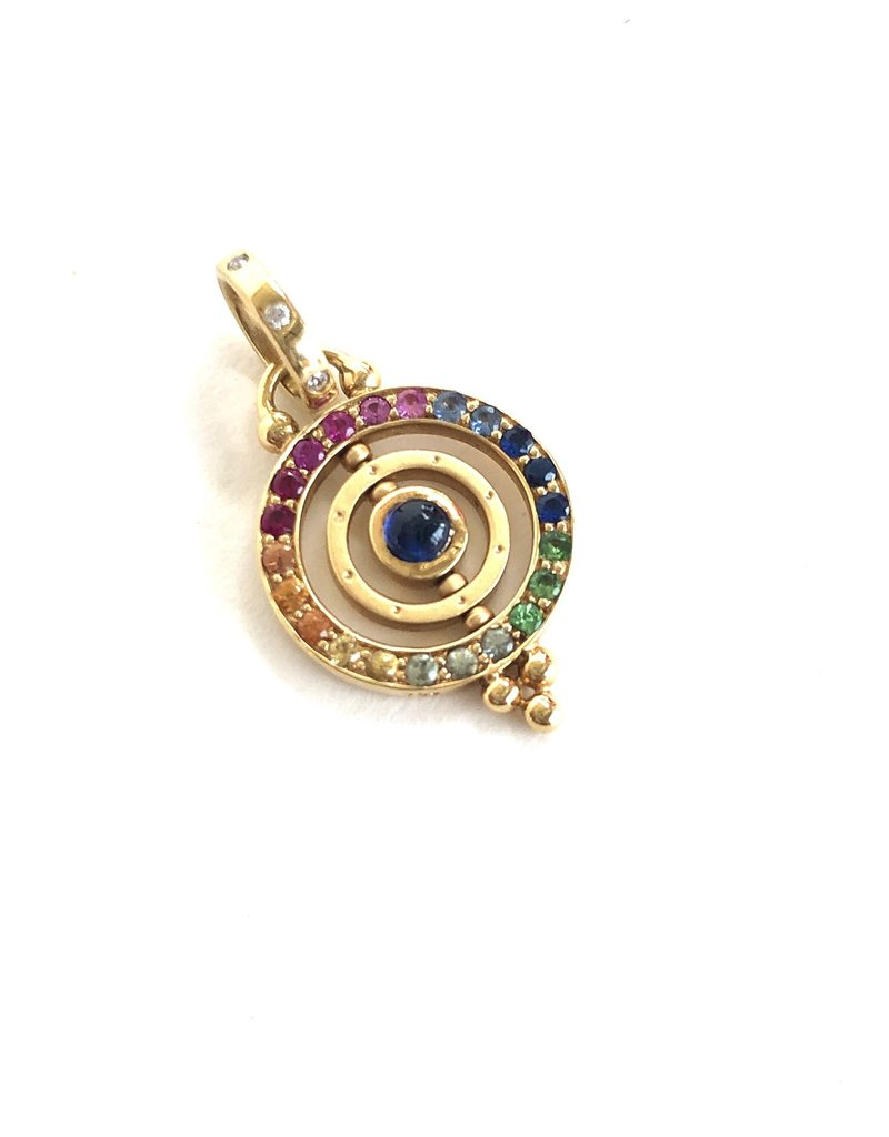 TEMPLE ST CLAIR Mixed Sapphire Tolomeo Pendant