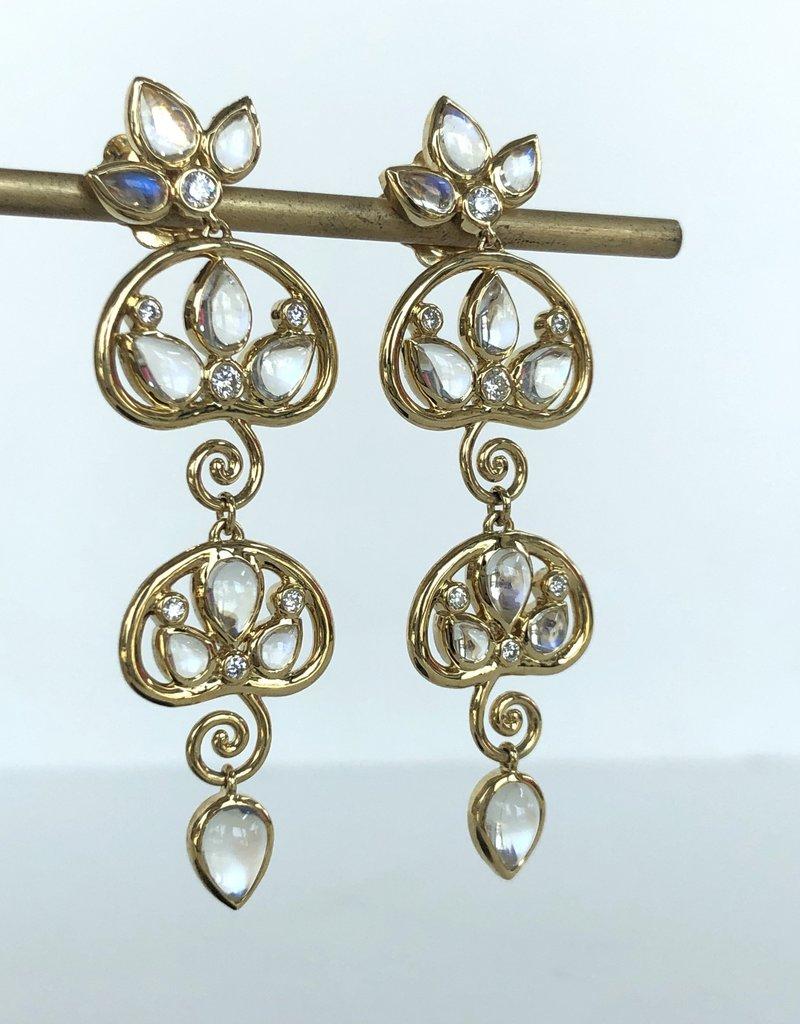 TEMPLE ST CLAIR Perse Moonstone Drop Earrings