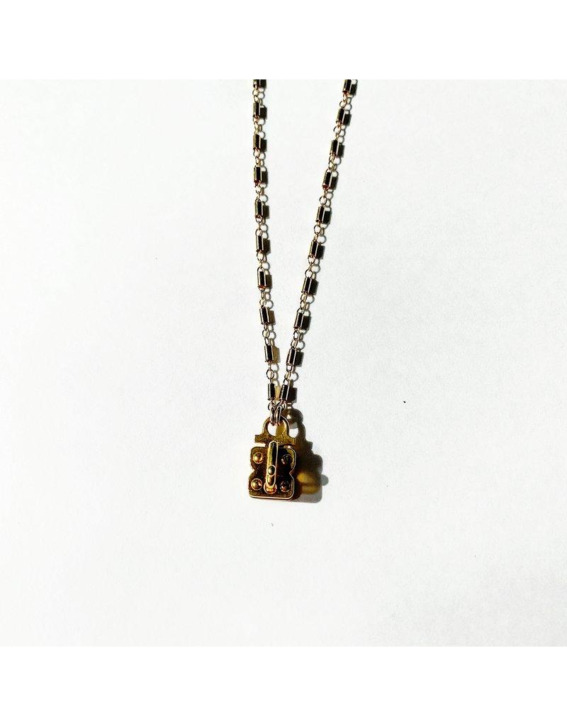 """SENNOD Hayden Vignette Gold Necklace 18"""""""