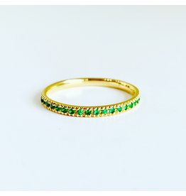 SYDNEY EVAN Emerald Eternity Band Ring