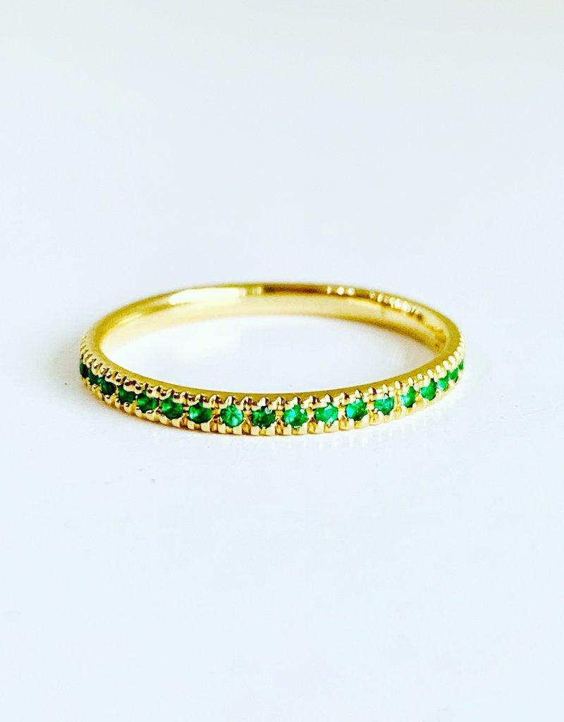 SYDNEY EVAN Emerald Eternity Band Ring