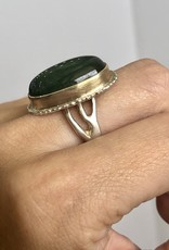JAMIE JOSEPH Vertical Oval Green Tourmaline Ring