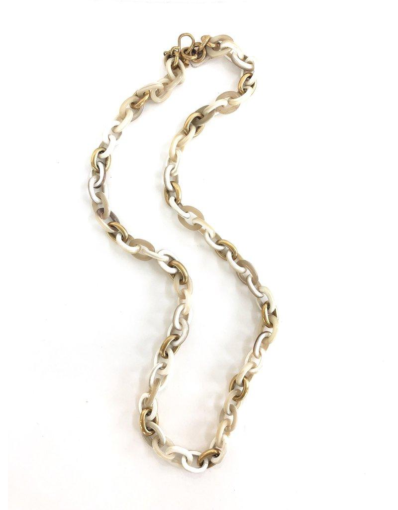 ASHLEY PITTMAN Meli Necklace Light Horn