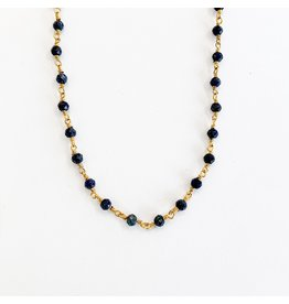 SENNOD Lapis Bead Necklace