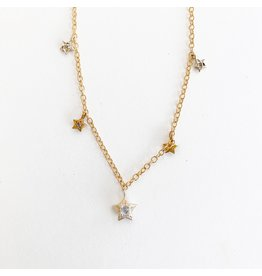 SENNOD Star Dangle Chain Necklace