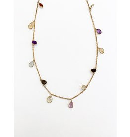 SENNOD Multistone Dangle Necklace