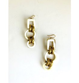 ASHLEY PITTMAN Viringana Earrings Light Horn