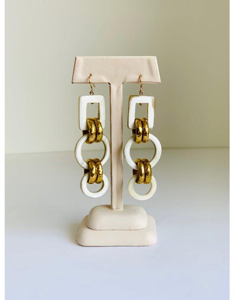ASHLEY PITTMAN Viringana Earrings Light Horn