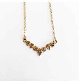 SENNOD Gold Diamond Bar Necklace