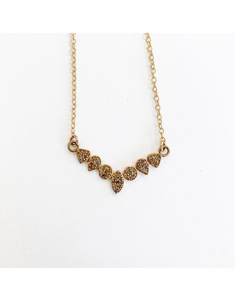 SENNOD Gold Diamond Bar Necklace