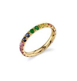 SYDNEY EVAN Large Rainbow Eternity Ring