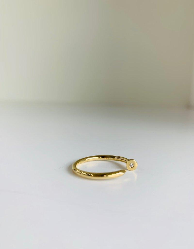 SYDNEY EVAN Nail Ring - Size 6.5