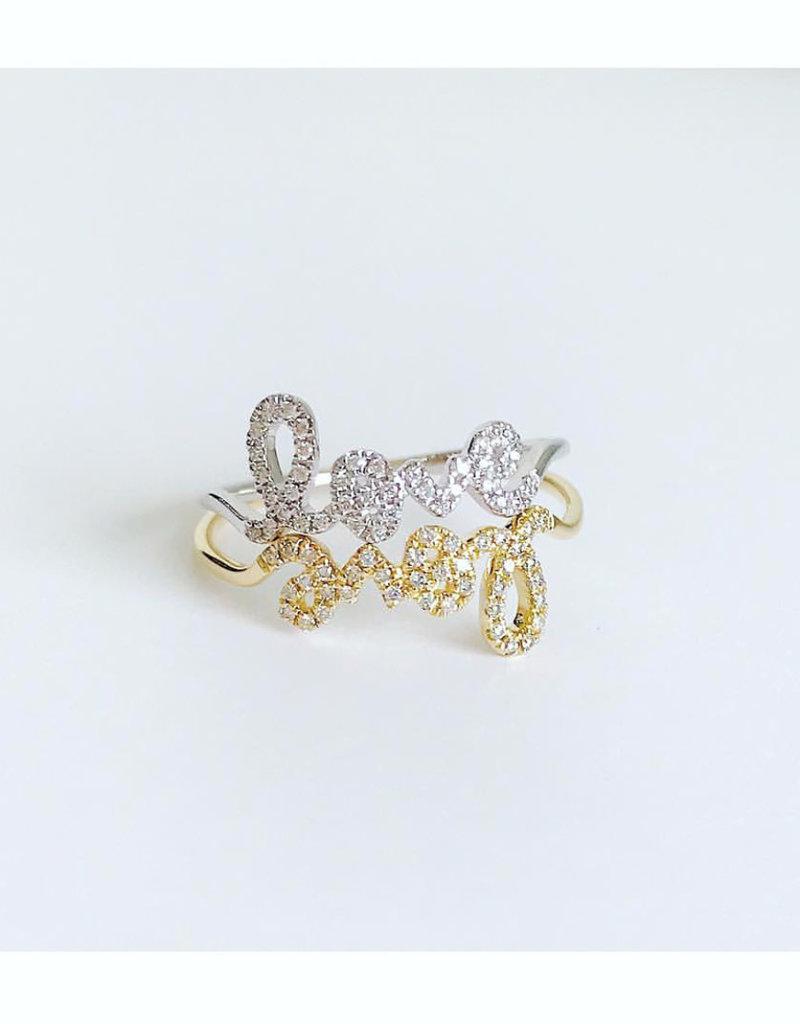 SYDNEY EVAN Diamond Love Ring - Size 8
