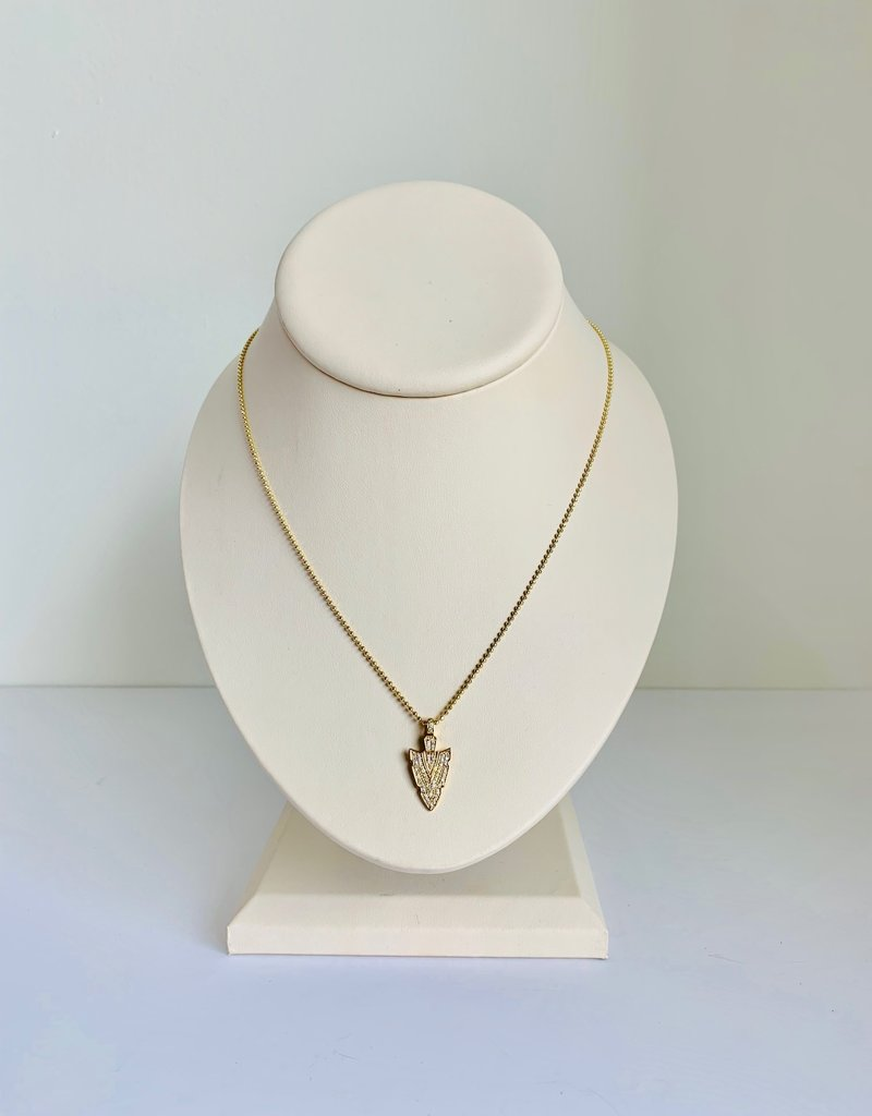 SYDNEY EVAN Pave Arrowhead Charm Necklace