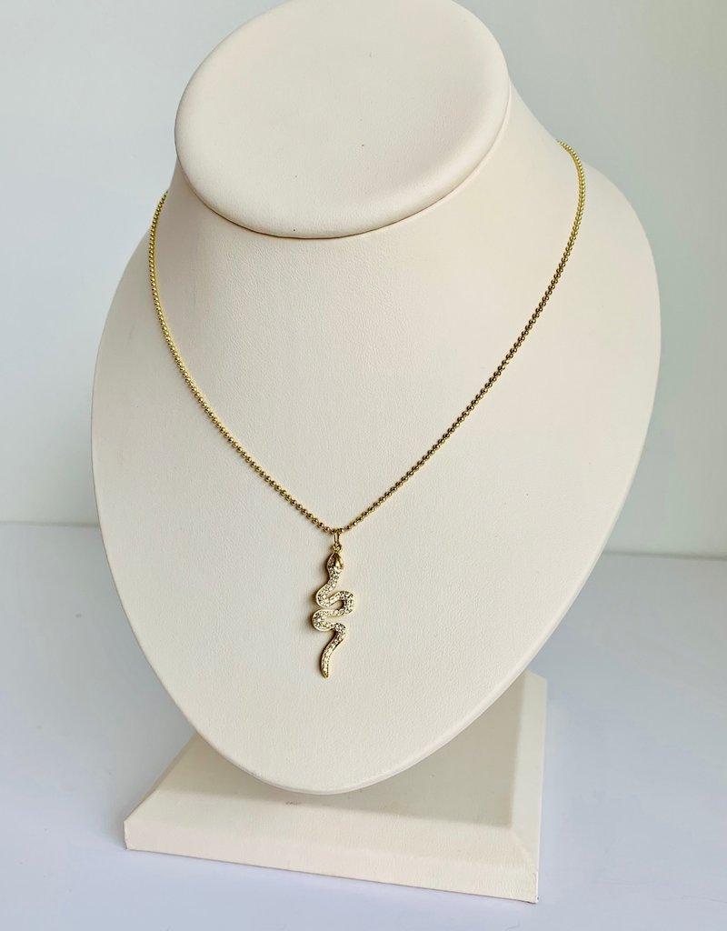 SYDNEY EVAN Vertical Snake Necklace