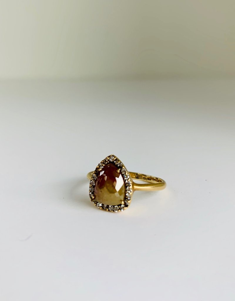 SHAESBY Raw Pear Shaped Diamond Ring