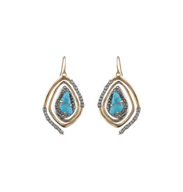 ALEXIS BITTAR Spiral Drop Earing - Turquoise