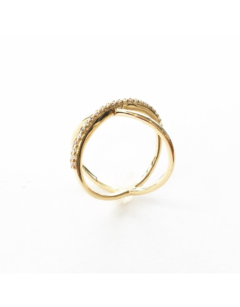 LAUREN FINE JEWELRY Diamond Criss Cross Ring