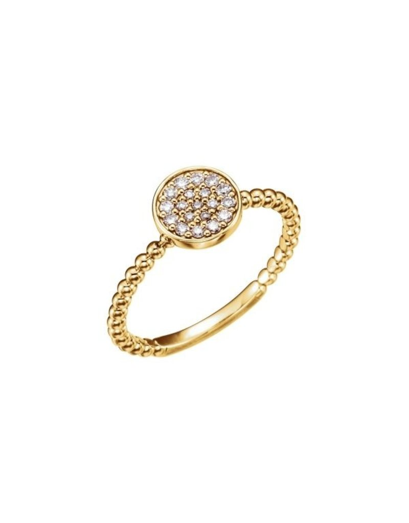LAUREN FINE JEWELRY Round Diamond Cluster Beaded Ring