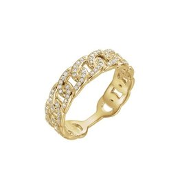 LAUREN FINE JEWELRY Diamond Link Ring