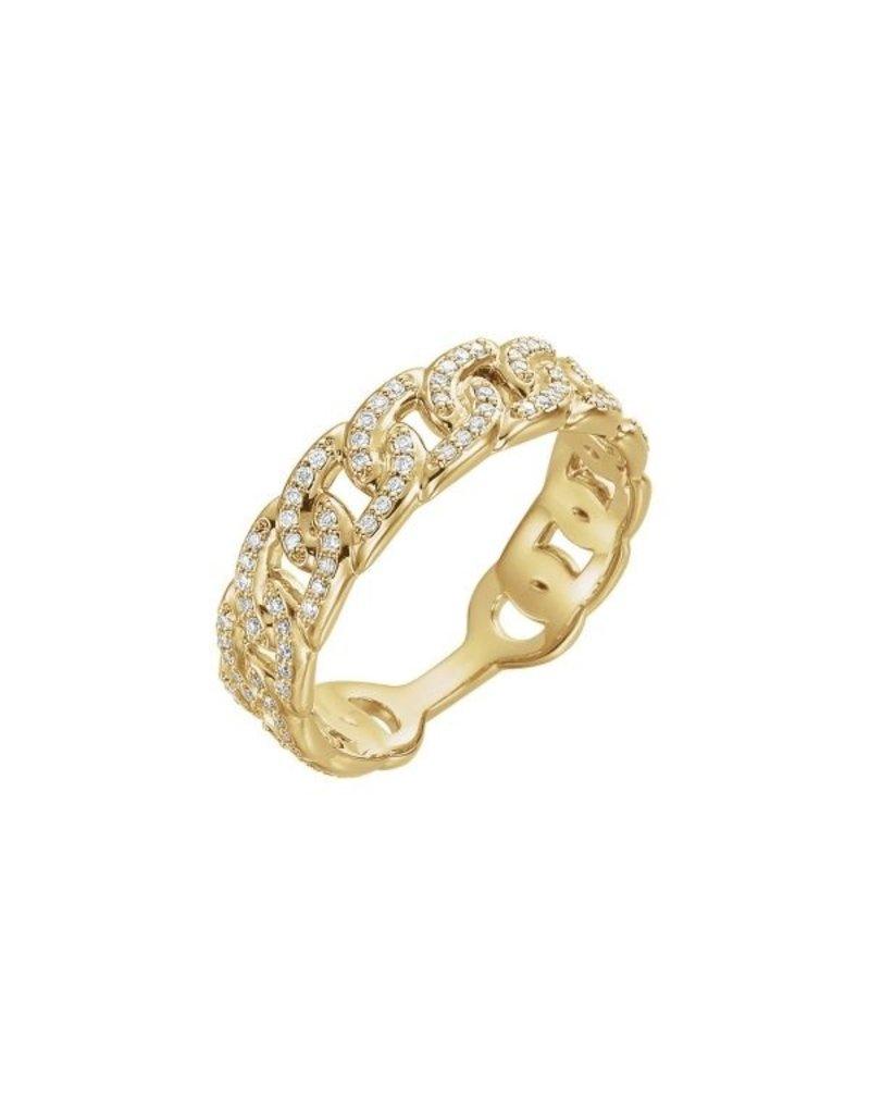 LAUREN FINE JEWELRY Diamond Link Ring