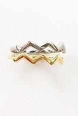Zig Zag Ring - White Gold