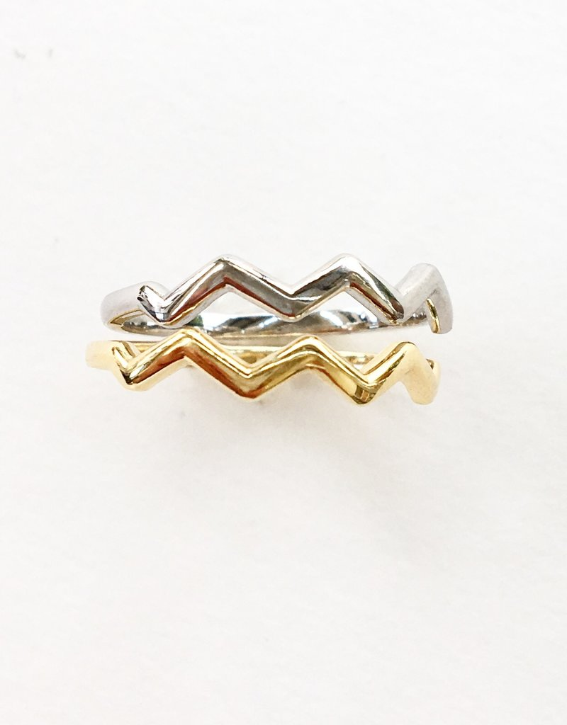 302 COLLECTION Zig Zag Ring - White Gold
