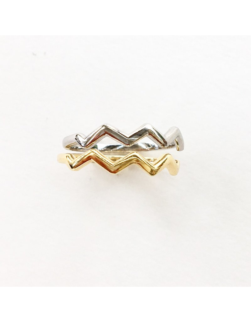 LAUREN FINE JEWELRY White Gold Zig Zag Ring