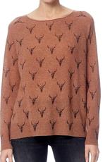 360 SWEATER Dawson Toffee/Charcoal Print Sweater