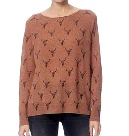 Dawson Toffee/Charcoal Print Sweater
