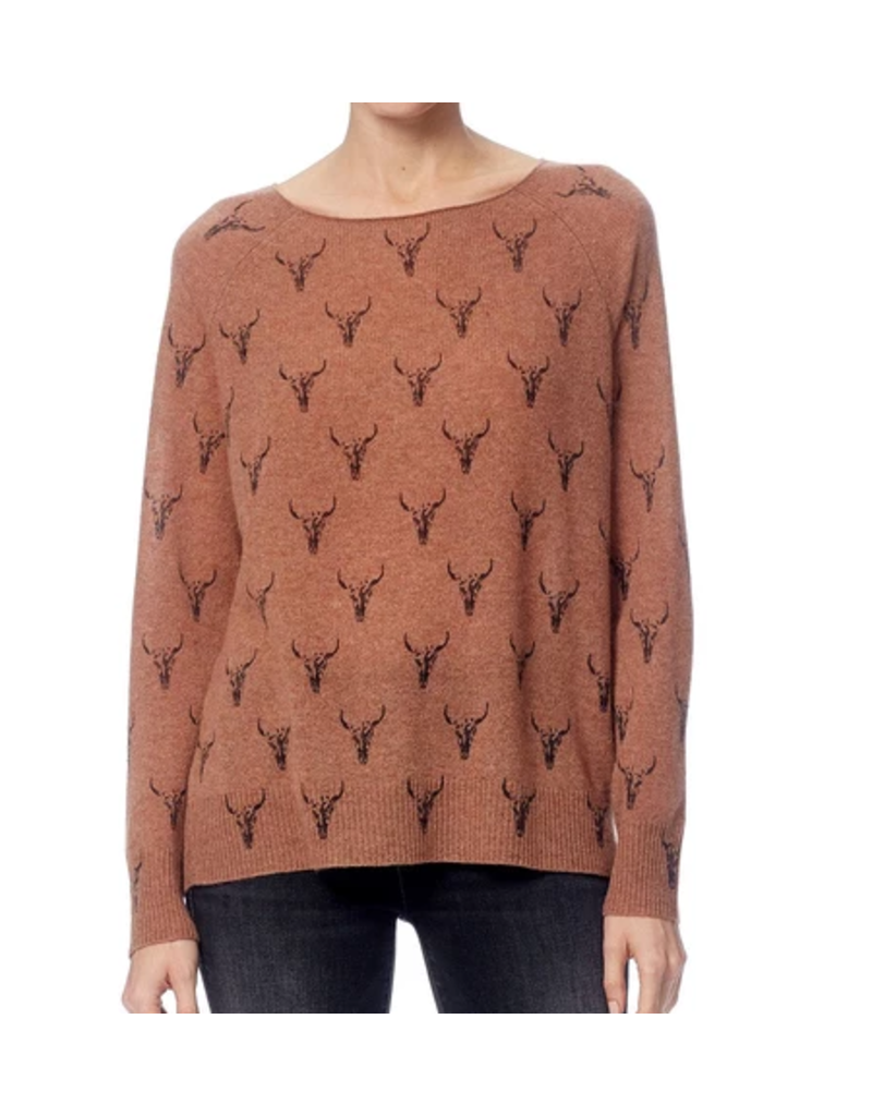 Dawson Toffee/Charcoal Print Sweater