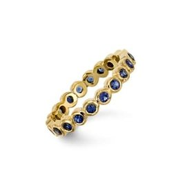 TEMPLE ST CLAIR Sapphire Eternity Band - Size 6.5