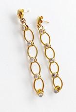 SENNOD Moonstone Chain Post Earrings