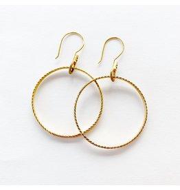 SENNOD Chevron Gold Hoop Earrings