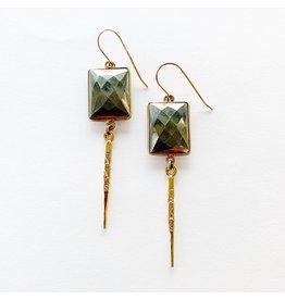 SENNOD Pyrite Dagger Earrings