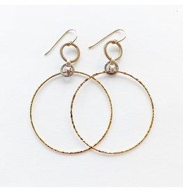 SENNOD Two Tone Thin Ring Hoop Earrings