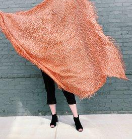 CHAN LUU Redwood Leopard Print Cashmere & Silk Scarf