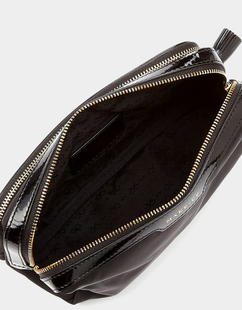 ANYA HINDMARCH Makeup Case Black Nylon