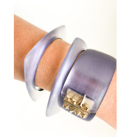 ALEXIS BITTAR Soft Square Bangle - Wisteria