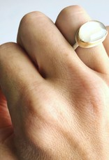 JAMIE JOSEPH White Moonstone Ring