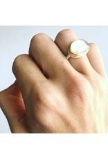 JAMIE JOSEPH Asymmetrical White Moonstone Ring