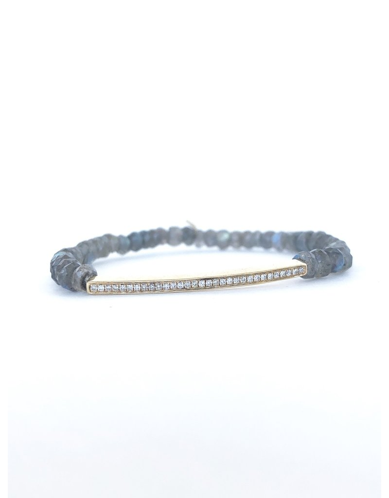 SYDNEY EVAN Diamond Bar on Labradorite Bracelet
