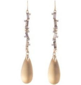 ALEXIS BITTAR Linear Drop Wire Earring - Gold