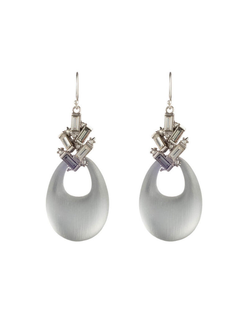 ALEXIS BITTAR Crystal Baguette Cluster Drop Earring - Silver